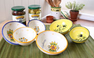 Hand Painted Olive Serving Dishes