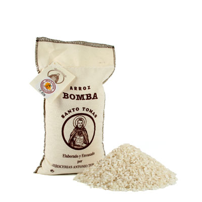 RC003-500g - Bomba Rice D.O in Textile Bag - Small
