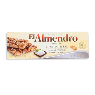 Almond Turron with a Touch of Sea Salt Snack Size TR011