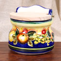 ALC-SAL-FRA - Rustic Blue-Fruit Style 'Slaero' Salt Box