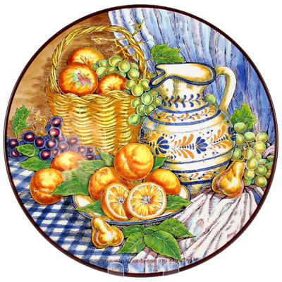 CER-BODEGONB3-40 - Decorative Hand Painted Plate