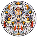 CER-OLIMPO1-31 - Decorative Hand Painted Plate