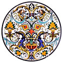 CER-OLIMPO3-31 - Decorative Hand Painted Plate