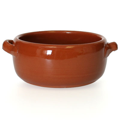 CP052 - Rustic Terra-Cotta Clay Soup Bowl