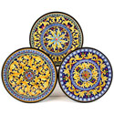 CER-MILAN-18S3 - Decorative Hand Painted Plates - Set of 3